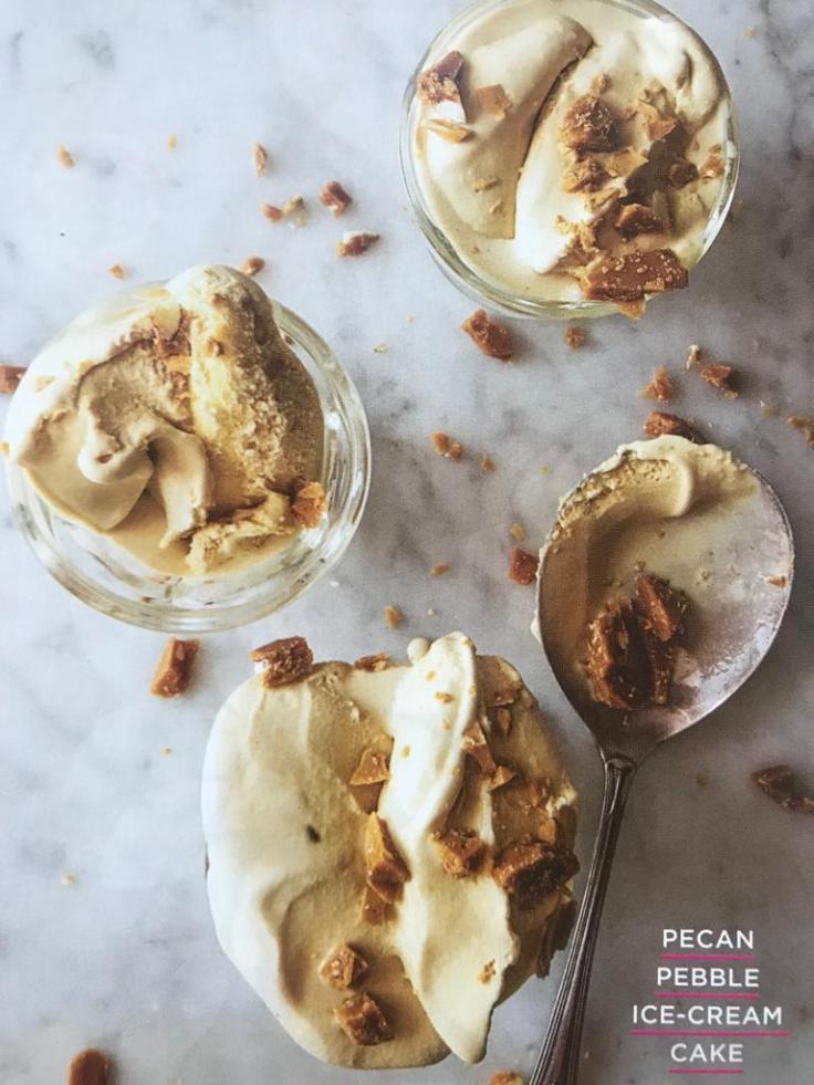 Pecan Pebble Ice Cream Cake