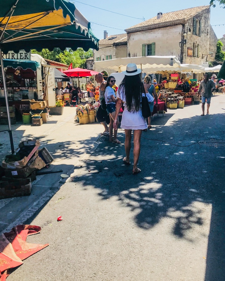 Provence, approaching a food market with excitement and trepidation